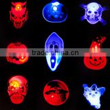 Flashing light LED brooch pin toys fashion pumpkin/ghost brooch led flash badge toy halloween supplies