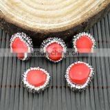 LFD-0013B DIY Druzy Coral Loose Bead , Pave Rhinestone Connectors Spacer Beads Jewelry Making