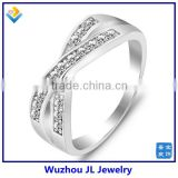 European Style Number Cross CZ Stone Sterling Silver Rings