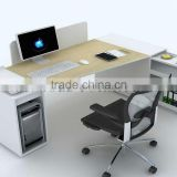 modern durable wooden panel steel frame l-shape office table office furniture description(SZ-OD116)