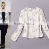 HOT sale 2014 wholesale branded runway fashion stars love leather applique mesh women's autumn jackets G18032