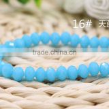 Solid Sky Blue 2mm to 12mm AAA Quality Wholesales Price Loose Jade Crystal Facted Roundelles Glass Beads for Jewelry Cheapest