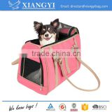 Luxury handbag dog purse stylish soft sided pink pet carrier for small dogs and cats                                                                         Quality Choice