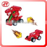 Amphibious toy car robot dinosaur with open touch box