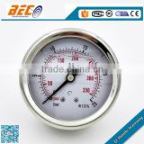 (YTN-60D) 60mm stainless steel 304 case with brass common thread type double scale dial oil level gauge