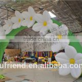 White wedding inflatable arch inflatable arch inflatable arch flower festival opening ceremony arches wholesale