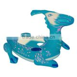 Inflatable PVC animal shape swim rider toys for swimming