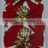 Promotional Beautiful Bowknot For Xmas Tree Decoration/Indoor &Outer Door Decoration