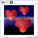 Fire Retardant Eco Chinese Heart Sky Lantern For Wedding
