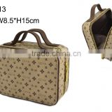 Cosmetic bag with zipper for hot sale selling wholesale with handle jewelry box