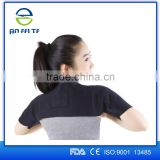 2015 Aofeite Adjustable Gym Sports Magnetic Double Shoulder Brace Support Strap Wrap Belt Band Pad Protector