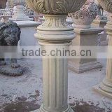 Marble granite hot sale eco flower pot plant pot wholesale hand carved sculpture for home garden