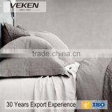 VEKEN products 100% pure linen sheets set oatmeal gray natural flax european bedding