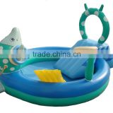 PVC water play inflatable slide pool