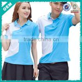 Contrast Color Blue Polo T Shirts For Lovers (lyt-060072)