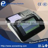M680 Android countertop pos machine for supermarket with barcode scanner receipt printer MSR NFC reader Fingerprint Sensor