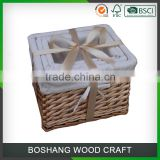 wholesale picnic fishing creel wicker basket                                                                         Quality Choice