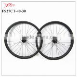 DT 240s J-bend hub+Sapim spokes High quality carbon mtb wheels 27.5er carbon wheels clincher disc braking for Mountain bike