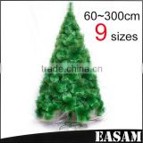 2015 Wholesale indoor Metal Stand Pine needle PVC Christmas tree
