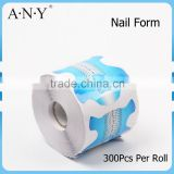 ANY Nail Shaping Paper Tool Form Factory Extension Manufacturer 300Pcs Per Roll