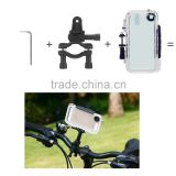 waterproof smartphone bike mount sports case with 120 degree angle lens