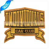 CAR Club motorcycle chenille patches, Letters biker embroidery motorcycle chenille patch