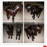 decorative antiqued painted wood horse