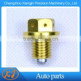 high quality aluminum cnc oil tank bolts with magnet