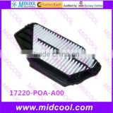 High quality air filter cabinfilter for 17220-POA-A00 17220POAA00