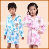 Promotion Printed Coral Fleece Bathrobe For Kids                                                                         Quality Choice