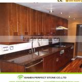 Custom kitchen for India granite tile countertop kits tan brown