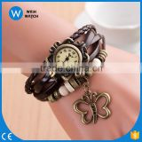 Ladies Girls Analog Casual Fashion Leather Strap Bracelet Watch For Women Vintage Quartz Wristwatches Relogio feminino VW025
