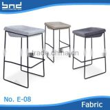 NEW DESIGN square seat and chromed legs bar chair for bar or hotel