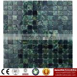 IMARK Dark Green Marble Mosaic Tiles With Polished Surface For Outdoor and Interior Walls Decoration Code IVM7-004