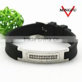 chinese manufacturer black leather couple bracelets