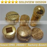 Shenzhen gold plating factory wine metal cap goldview die casting ,electroplating one-stop service