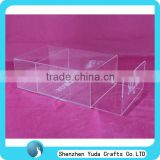 Wholesale Acrylic Fabrication Clear Shoe Display Box Perspex Material Shoe Drawer