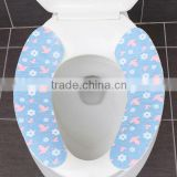 Silicone(Can Do Antibacterial Deodorization)+Microfiber( Custom) Cloth Toilet Seat Cover