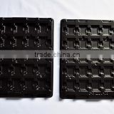 new design black PS Anti-static plastic trays for resistors antistatic blister tray for electronics