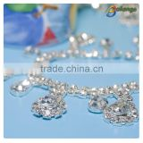 Charming crystal attractive bulk rhinestone chains for necklace decoration particular in Guangzhou