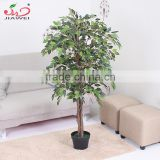 China factory hot sales fake fabric leaves home decoration artificial ficus tree plant