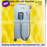 Wrinkle Removal Www.golden-laser.org/2013 New Style E-light+IPL+RF Machine Skin Care Hair And Skin Testing Device Pigment Removal