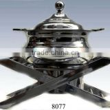 deluxe stainless steel chafing dish with porcelain food pan/food warmer chaffing