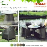 Outdoor dining set black wicker garden tables and chairs