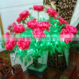 hot led simulation bonsai tree light,peony peach flower blossom light for outdoor & indoor decorations