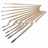 High-end 9Pcs/set Bicolor Synthetic Nylon Bristles Acrylic Watercolor Paintbrushes for Artists