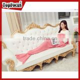 Bulk Wholesale Adult Knitted Mermaid Tail Blanket TV Wearable