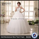 New 2017 Hanging Neck Wedding Dress Korean Style Slim Tie Strap Retro Bride Dress Vintage Diamonds Wedding Dress