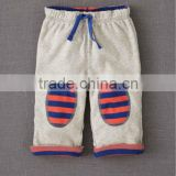 BABY BOYS PANT WITH STRIPED KNEE PATCH