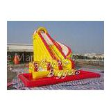 Durable PVC Inflatable Water Slide With Swimming Pool , Inflatable Combo Water Slide Rentals